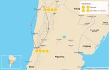 Map thumbnail of Santiago & Atacama Desert Tour - 9 Days