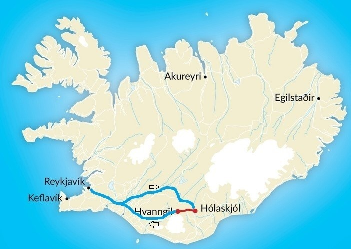 Map of Volcanic Trails: The Wild Strútur Trail - 5 Days
