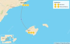 Map thumbnail of Highlights of Barcelona and Mallorca: Cities, Beaches, and Mountains - 7 Days