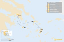 Map thumbnail of Family Adventures in Athens and the Cyclades - 5 Days