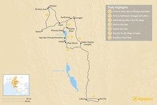Map thumbnail of Eastern Myanmar: Off-the-Beaten-Path in 7 Days