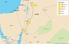 Map thumbnail of Classic Highlights of Jordan: Jerash, Petra, Wadi Rum & Dead Sea - 8 Days
