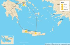 Map thumbnail of Interactive Athens and Crete for Families - 10 Days