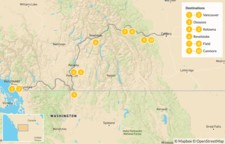 Map thumbnail of Vancouver to Calgary Road Trip: Okanagan Valley & Canadian Rockies - 11 Days