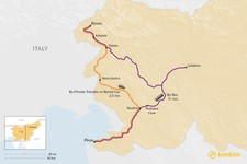 Map thumbnail of How to Get from Bovec to Piran