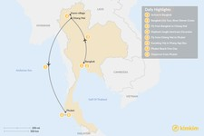 Map thumbnail of Best of Thailand - 8 Days