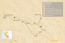 Map thumbnail of Sacred Valley & Machu Picchu By Bike - 8 Days