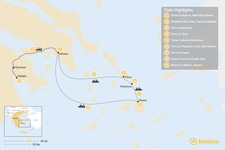 Map thumbnail of Cyclades & Peloponnese Culinary Heritage - 9 Days