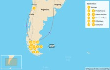 Map thumbnail of Best of Southern Patagonia - 15 Days