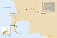 Map thumbnail of South Africa Adventure: Cape Town & Winelands - 5 Days