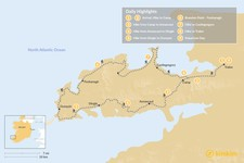 Map thumbnail of Hiking the Dingle Way - 8 Days