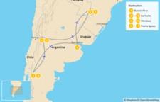 Map thumbnail of Classic Argentina: Patagonia, Mendoza, & Iguazú - 8 Days