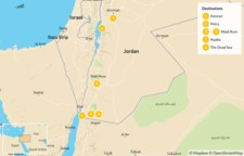 Map thumbnail of The Family Friendly Tour: Amman, Petra, Wadi Rum & the Dead Sea - 7 Days