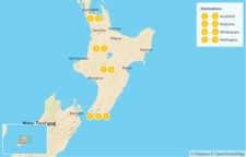 Map thumbnail of New Zealand: 'Middle Earth' Family Tour of the North Island - 10 Days
