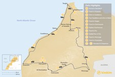 Map thumbnail of Moroccan Tour: Atlantic Coast, Imperial Cities, & Sahara Desert - 13 Days