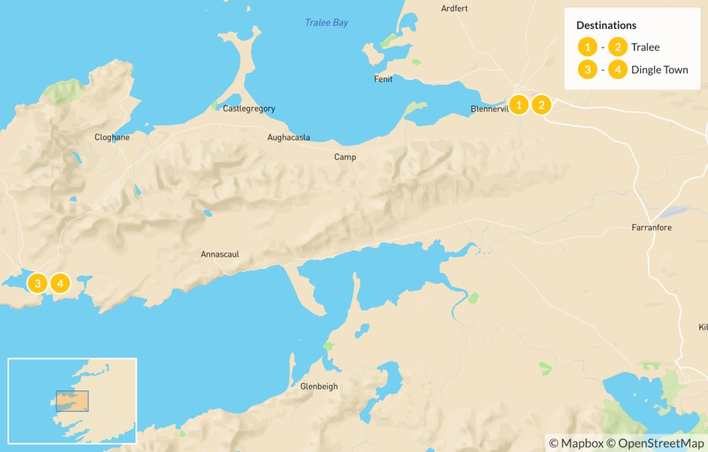 Map of Self-Guided Dingle Peninsula Walk - 6 Days