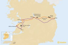 Map thumbnail of How to Get from Dublin to the Cliffs of Moher