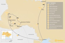 Map thumbnail of Highlights of Central and Western Ukraine - 14 Days