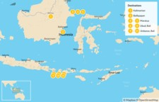 Map thumbnail of Indonesian Escape: Borneo, Maratua, & Bali - 12 Days