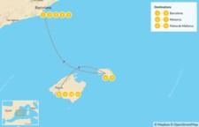 Map thumbnail of Barcelona and the Balearic Islands: Mallorca and Menorca - 12 Days