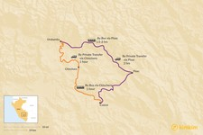 Map thumbnail of How to Get from Cusco to Urubamba