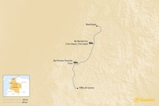 Map thumbnail of How to Get from Villa de Leyva to Barichara