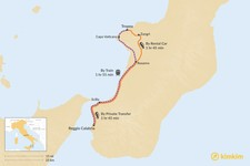 Map thumbnail of How to Get from Tropea to Reggio Calabria