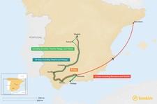 Map thumbnail of Seville, Granada, & Ronda: Best Itinerary Ideas