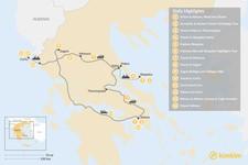 Map thumbnail of Central Greece, Skopelos & Corfu Exploration - 14 Days