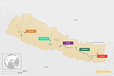 Map thumbnail of Best Rafting Trips in Nepal: Day Trips & Multi-Day Trips