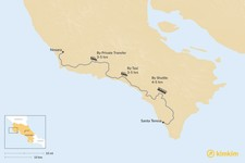 Map thumbnail of How to Get from Nosara to Santa Teresa