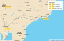 Map thumbnail of Brazil Adventure: Rio de Janeiro, Iguazú Falls, & Pantanal - 10 Days