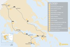 Map thumbnail of Mainland Greece Adventure Trip - 14 Days