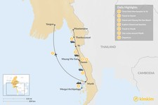 Map thumbnail of Best of Southern Myanmar - 7 Days