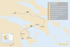 Map thumbnail of Best of Athens & Ancient Greece - 8 Days