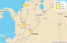 Map thumbnail of Explore Bogotá, Medellín, and Cartagena - 8 Days