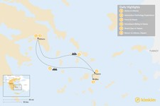 Map thumbnail of Family Adventures in Athens and the Cyclades - 6 Days