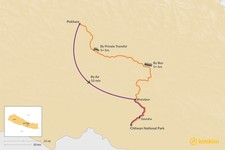Map thumbnail of How to Get from Pokhara to Chitwan National Park