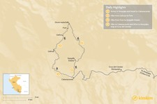 Map thumbnail of Colca Canyon Trek - 7 Days