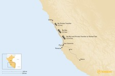 Map thumbnail of How to Get from Lima to Paracas