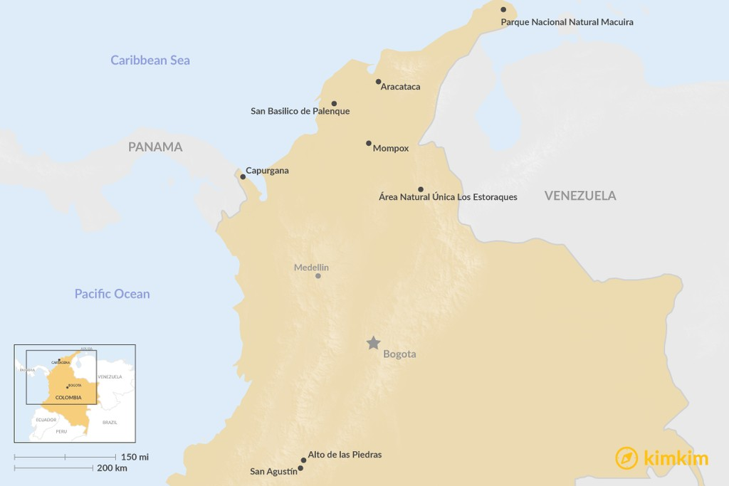 Map of Top 7 Places in Colombia That Most Travelers Miss (But Shouldn't)
