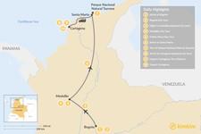 Map thumbnail of Discover Medellín, Bogotá, & Tayrona National Park - 12 Days