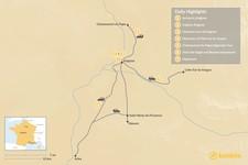 Map thumbnail of Visit Provence Like the Obama Family - 7 Days