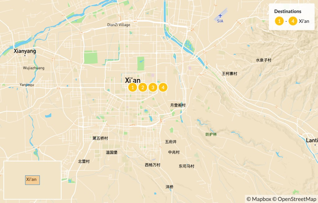 Map of Highlights of Xi'an - 5 Days