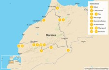 Map thumbnail of Luxury Grand Tour of Morocco - 14 Days