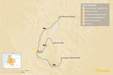 Map thumbnail of Bogotá's Active Adventure: Bike, Hike, and Climb - 6 Days