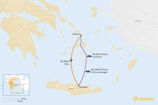 Map thumbnail of How to Get from Mykonos to Crete