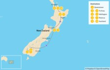 Map thumbnail of Highlights of New Zealand - 10 Days