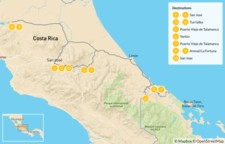 Map thumbnail of Beaches, Rainforests & Cultural Exchange in Costa Rica - 11 Days