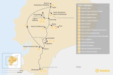 Map thumbnail of Ecuador Hiking Adventure - 15 Days